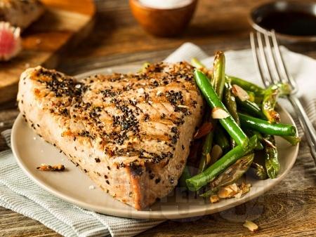 Филета риба тон Терияки на грил / скара / барбекю - снимка на рецептата